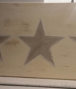 Tabla decorativa estrellas